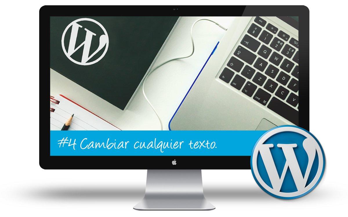 Curso WordPress Intermedio - Cambiar cualquier texto en WordPress