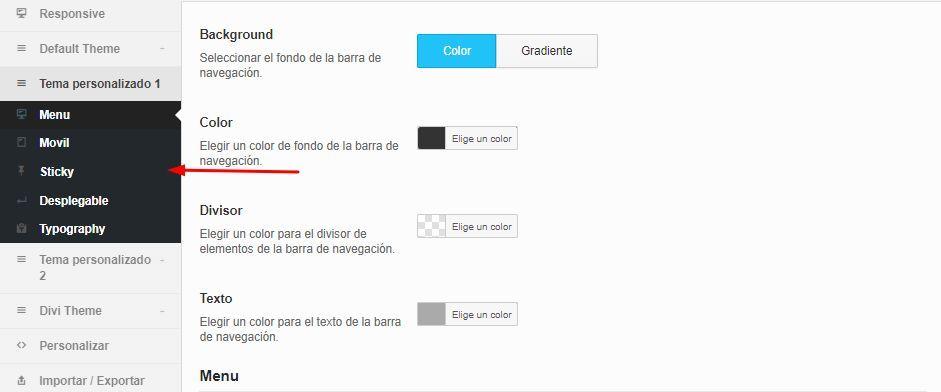 Personalizar diseño de QuadMenu para mega menu WordPress